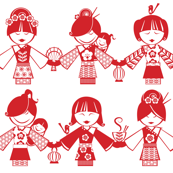 China Dolls, red