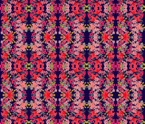 Small Print Vintage Inspired Floral on Navy fabric by theartwerks on Spoonflower - custom fabric