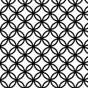Fretwork circles, black on white
