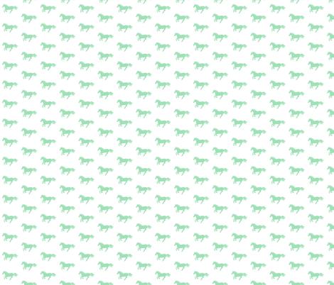 Mint Pony on White