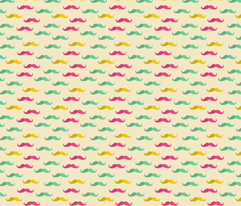 mustache pattern fabric by kostolom3000 on Spoonflower - custom fabric