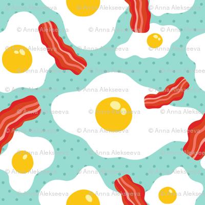 egg bacon pattern