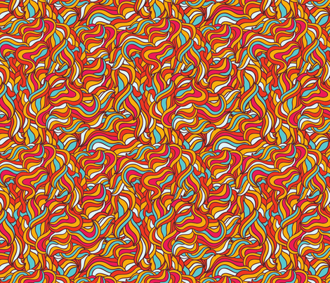 Doodle pattern fabric by kostolom3000 on Spoonflower - custom fabric