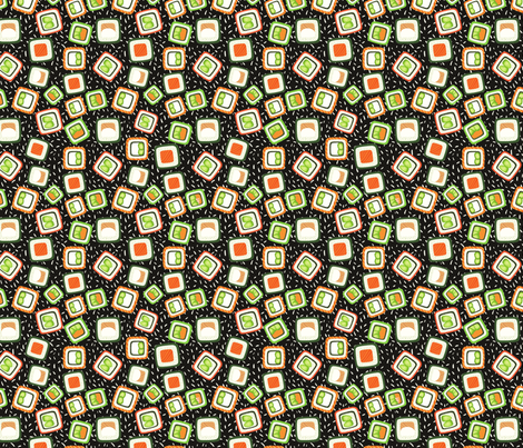 sushi pattern fabric by kostolom3000 on Spoonflower - custom fabric