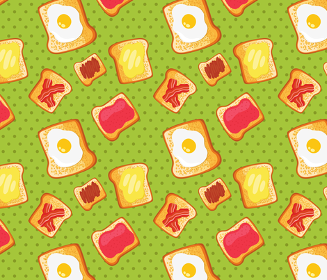 toast pattern fabric by kostolom3000 on Spoonflower - custom fabric
