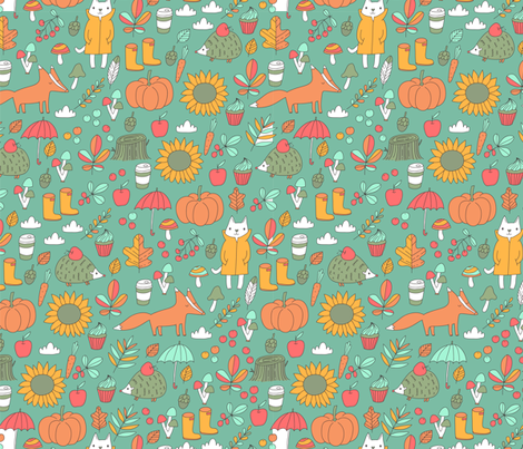 Doodle flowers fabric by kostolom3000 on Spoonflower - custom fabric