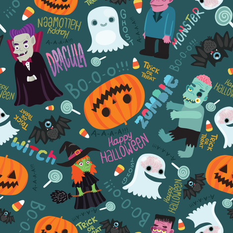 Halloween pattern fabric by kostolom3000 on Spoonflower - custom fabric