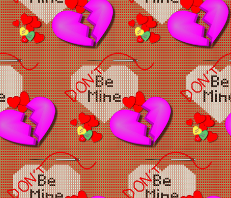 DontBeMine2-01 fabric by chesapeaketess on Spoonflower - custom fabric
