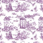 tardis toile de jouy lavender