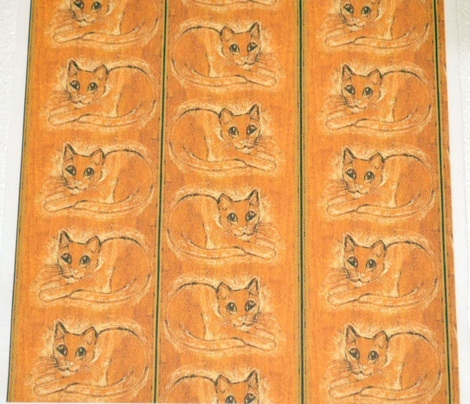 Etched Wood Cat