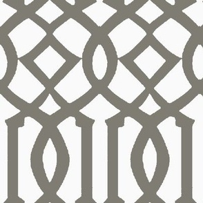 Imperial Trellis-Gray/White-Reverse-Large