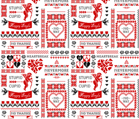 Stupid Cupid fabric by mirabelleprint on Spoonflower - custom fabric