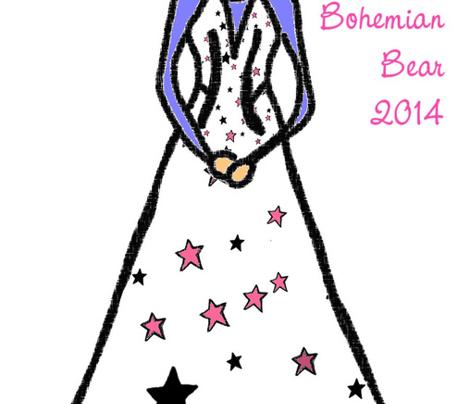 Black Pink White Stars