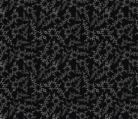 Oxytocin (B&W) fabric by studiofibonacci on Spoonflower - custom fabric