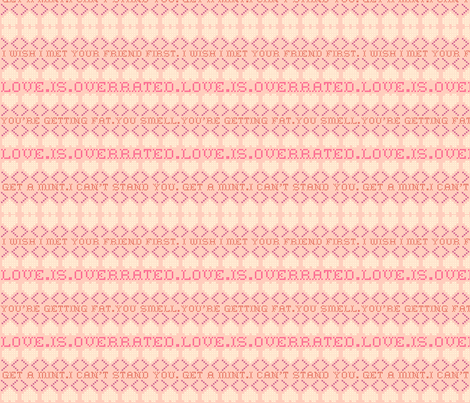 Rude Valentine fabric by elleenne on Spoonflower - custom fabric