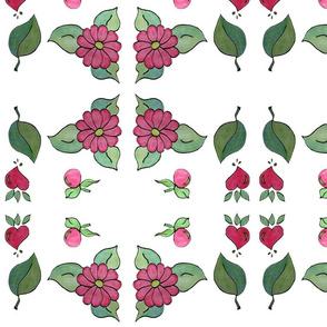 Pink Daisy Flower-Hearts
