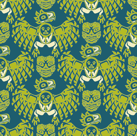 mask of myth fabric by keweenawchris on Spoonflower - custom fabric