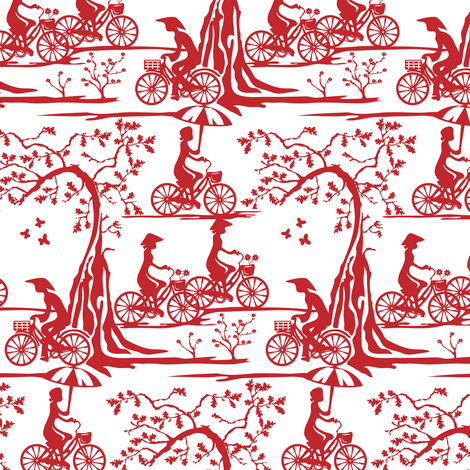 The year of the bicycle fabric by ebygomm on Spoonflower - custom fabric