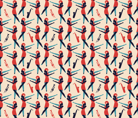 The Charleston fabric by abloom on Spoonflower - custom fabric