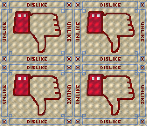DISLIKE fabric by pavlovais on Spoonflower - custom fabric