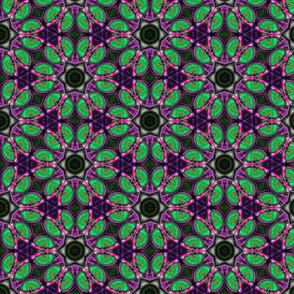 Sphync Cat Mitchie Eye Abstract Purple and Green
