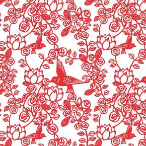 Paper cut roses