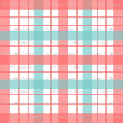 Plaid Pink turquoise