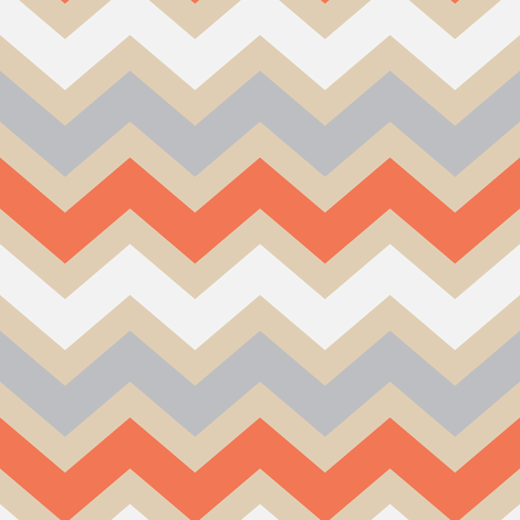 Creamicle Chevron fabric by vo_aka_virginiao on Spoonflower - custom fabric