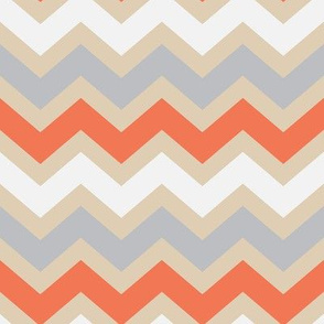 Creamicle Chevron