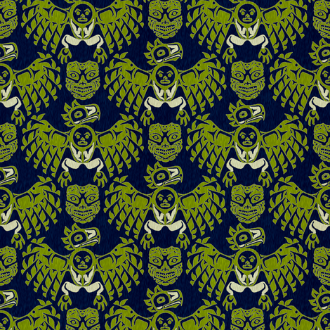 mythic woods fabric by keweenawchris on Spoonflower - custom fabric