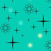 Atomic Starburst on Turquoise