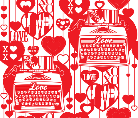 I Heart Paper Cut! fabric by cynthiafrenette on Spoonflower - custom fabric
