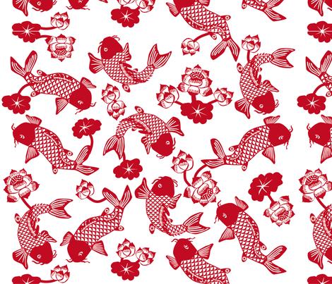 fish pond fabric by p_kok on Spoonflower - custom fabric