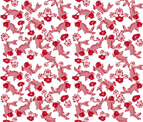 fish pond fabric by p_kok on Spoonflower - custom fabric