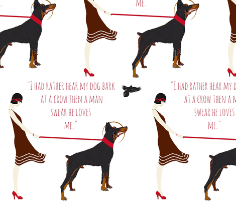 Hear my dog bark -  fabric by walkwithmagistudio on Spoonflower - custom fabric