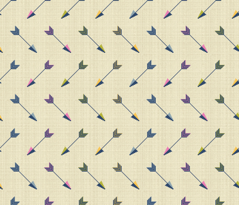 Cupid's Arrows fabric by cerigwen on Spoonflower - custom fabric