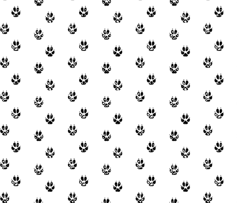 Fox Paw Print fabric by mrshervi on Spoonflower - custom fabric