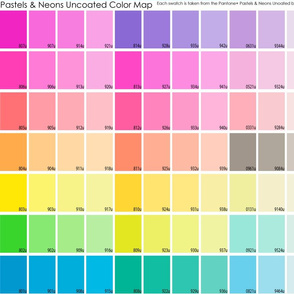 neon & pastel uncoated color map