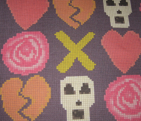 cross stitch cross love