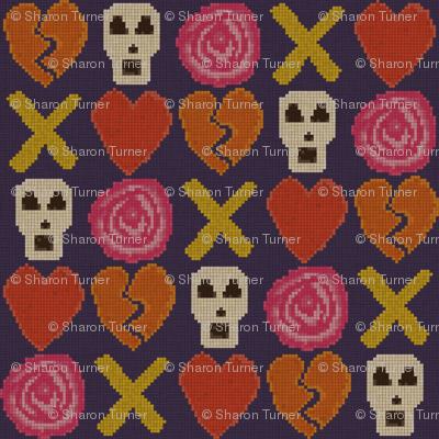 cross stitch cross love