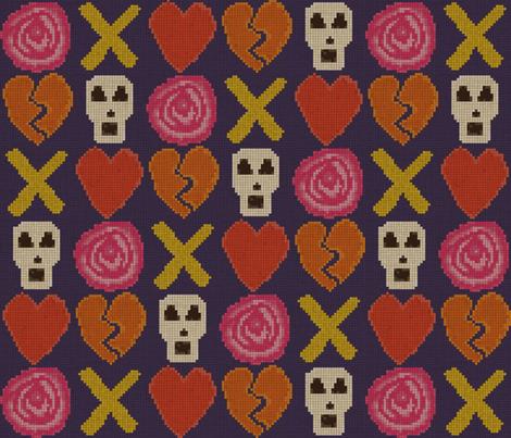 cross stitch cross love fabric by scrummy on Spoonflower - custom fabric