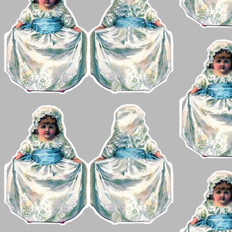 Small Victorian Dolls 1 fabric by marchhare on Spoonflower - custom fabric