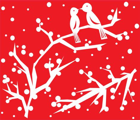 love_bird_cutouts_upload fabric by marlis_c on Spoonflower - custom fabric