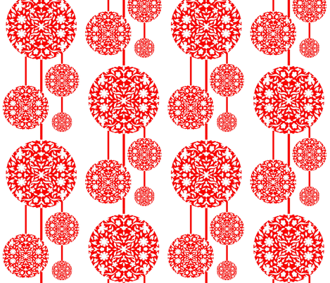 Middle Eastern Chinese Paper-cut Lanterns fabric by zsmama on Spoonflower - custom fabric