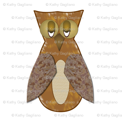 Brown Textured Owl
