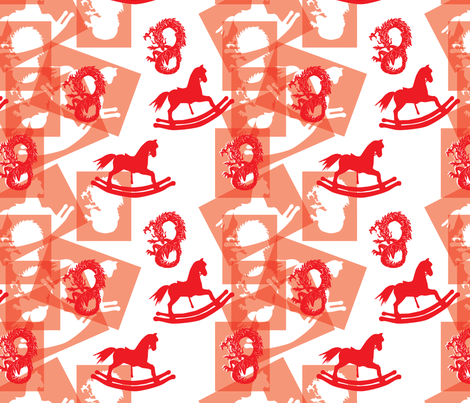 Year-of-the-Wooden-Horse fabric by relk on Spoonflower - custom fabric