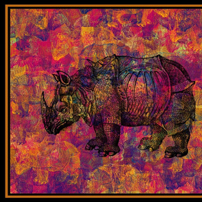 RHINO Fat Quarter PANEL PILLOW Design