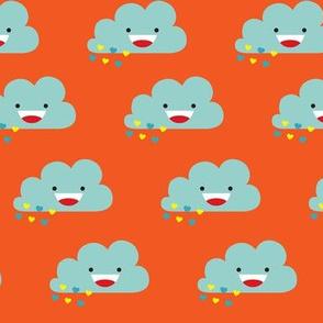Happy Love Rain Clouds