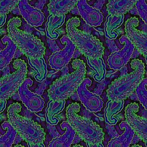 Painted purple paisley