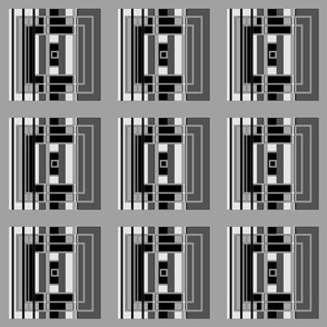 Black and White Art Deco Squares © Gingezel™